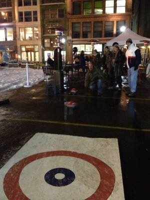 Street Curling in Downtown Pittsburgh