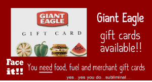 Gift Cards Not sure what they'll like? Pick up a Giant Food gift card while you shop, or place an order online for pick-up or delivery. Cash for Causes. Raise money for your non-profit with Cash for Causes. Simply purchase Cash for Causes gift cards at a 5% discount ($ minimum purchase required), and then sell them at face value.