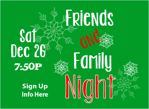 Friends and Family Dec 26